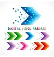digital arrows vector image