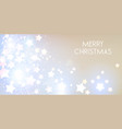 elegant christmas banner with stars vector image vector image