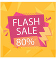 flash sale 80 off crystal orange background vector image