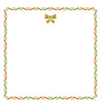 golden red and green empty christmas border note vector image