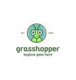 grasshopper logo vector image vector image