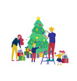 greeting card winter holidays merry christmas and vector image