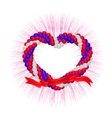 heart from balloons vector image