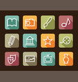 icons of arts vector image vector image