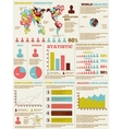 INFOGRAPHIC DEMOGRAPHIC MODERN NEW STYLE vector image vector image