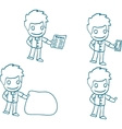 man with idea cartoon hand-drawn vector image