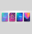 modern futuristic abstract dynamic covers set vector image