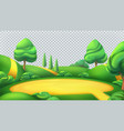 nature landscape park isolated 3d panorama vector image vector image