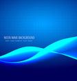 neon blue wave vector image