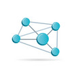 network 3d symbol vector image vector image