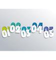 Numbering Line Design vector image vector image