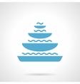 Pyramidal fountain glyph style icon vector image vector image