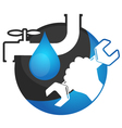 Repair plumbing and water supply systems and a vector image