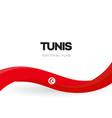 republic tunisia red waving flag banner vector image