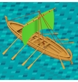 Sailing boat isometric vector image vector image