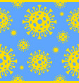 seamless texture coronavirus concept vector image