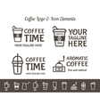 Set of Coffee Elements and restaurant line vector image vector image