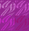 set of patterns from shades of lilac feathers and vector image vector image