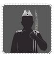 silhouette of a boy in uniform vector image vector image
