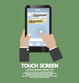 Touch Screen On Smartphone vector image vector image