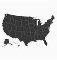 Usa map blank map united states america