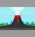 volcano eruption flat design style vector image vector image