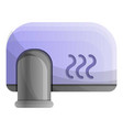 wall hand dryer icon cartoon style vector image