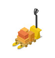 warehouse forklift cart isometric 3d icon vector image vector image