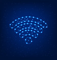 wi fi sign on a blue background vector image vector image