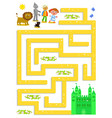 wizard of oz labyrinth help dorothy to find the vector image vector image