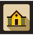 Yellow two storey cootage with narrow windows icon vector image vector image