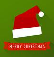 Flat santa hat vector image