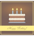 Flat Design Happy Birthday Greeting Card with vector image