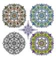 Mandalas backgroundOrientethnic pattern set vector image
