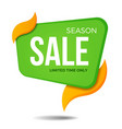 season sale label price tag banner sticker badge vector image