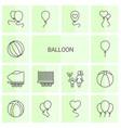 14 balloon icons vector image vector image
