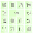 14 sheet icons vector image vector image