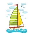 a sailboat on the sea vector image vector image