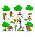 active pastime on nature at park vector image vector image