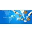 aec asean economic community association of vector image