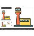airport terminal line icon