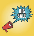 big sale poster with megaphone vector image