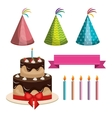 birthday elements party celebrate graphic vector image