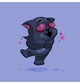 Black cat in love vector image vector image