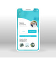 blue designers group ui ux gui screen for mobile vector image vector image