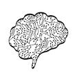 Brain icon Human head design graphic vector image vector image