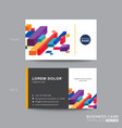 business card design with colorful isometric vector image