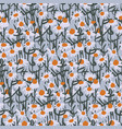 camomile field pattern vector image vector image