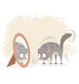 cat and mirror vector image vector image