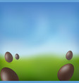 chocolate egg 3d happy easter brown easter vector image vector image
